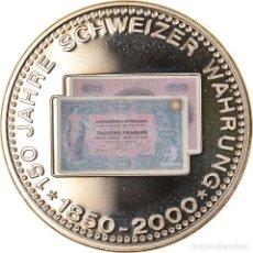 Medallas temáticas: SUIZA, MEDALLA, 150 ANS DE LA MONNAIE SUISSE, 1000 FRANCS, 2000, FDC, COBRE -. Lote 236378980