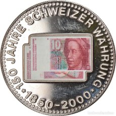 Medallas temáticas: SUIZA, MEDALLA, 150 ANS DE LA MONNAIE SUISSE, 10 FRANCS, 2000, SC+, COBRE -. Lote 236379125