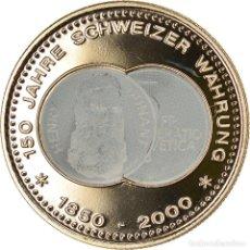 Medallas temáticas: SUIZA, MEDALLA, 150 ANS DE LA MONNAIE SUISSE, HENRY DUNANT, 2000, SC+, COBRE -. Lote 236379415