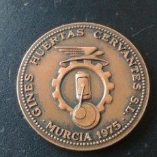 Medallas temáticas: MEDALLA: 1975 MURCIA - GINES HUERTAS CERVANTES S.L. - 75 ANIVERSARIO. Lote 236585290