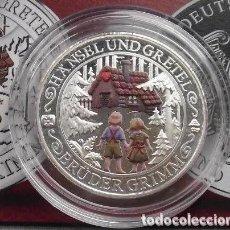 Medallas temáticas: BONITA MONEDA DE PLATA CONMEMORATIVA A LOS CUENTOS DE LOS HERMANOS GRIMM HANSEL Y GRETEL. Lote 237338500