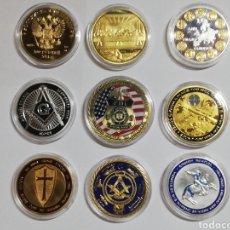 Medalhas temáticas: LOTE DE 9 MONEDAS CONMEMORATIVA VARIEDAD. Lote 237574470