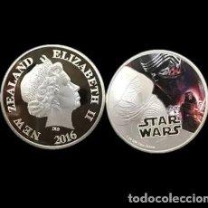 Medalhas temáticas: MONEDA STAR WARS PLATA. Lote 209560323