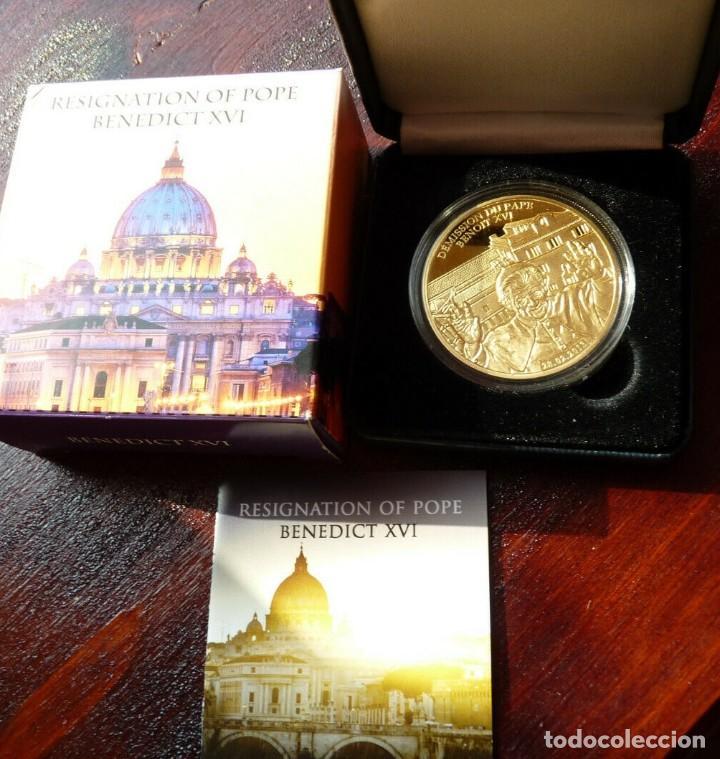 Medallas temáticas: BONITA MONEDA CONMEMORATIVA DE LA DIMISION O RENUNCIA DEL PAPA BENEDICTO XVI EDICION MUY LIMITADA - Foto 3 - 287876768