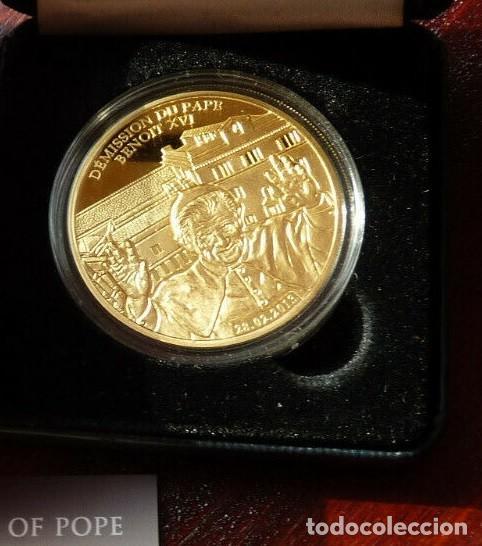 Medallas temáticas: BONITA MONEDA CONMEMORATIVA DE LA DIMISION O RENUNCIA DEL PAPA BENEDICTO XVI EDICION MUY LIMITADA - Foto 2 - 287876768