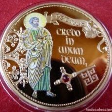 Medallas temáticas: BONITO MEDALLON XL DE PETRUS SAN PEDRO APOSTOL CREDO IN UNUM DEUM. Lote 238066085