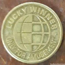Medallas temáticas: MONEDA TOKEN LUCKY WINNER. Lote 239376065