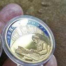Medallas temáticas: 1993 BÉLGICA BÉLGICA ECU 1993 ENVASADO SUPERIOR EN COLOR KU-NI CHAPADO EN ORO 40 MM. Lote 240026750