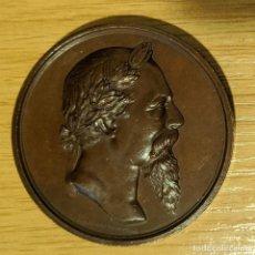 Medalhas temáticas: MEDALLA DE BRONCE, CORONACIÓN DE ZORRILLA EN LOS ALCÁZARES, DE A, CARRASCO, 1889 LICEO DE GRANADA. Lote 241774655
