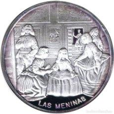 Medalhas temáticas: ESPAÑA MEDALLA ONZA DE PLATA PURA VELAZQUEZ LAS MENINAS - PINTURA. Lote 242465490