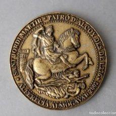 Medallas temáticas: MEDALLA SAN JORGE - PATRÓN DE ALCOY - ALFERECÍA ALMOGAVAR 2002 - PARICIPACIÓN LOTERÍA. Lote 242994015