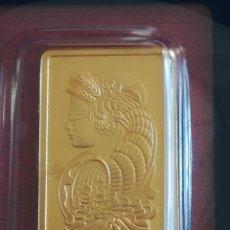 Medallas temáticas: LINGOTE DE ORO 999 FORTUNA P. A. M. P. SWISS. Lote 243266610