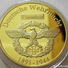 Medalhas temáticas: MONEDA ORO 24K ALEMANIA DE ERWIN ROMMEL FIRMA 1891-1944 DEUTSCHE WEHRMAC CONCHAS QUINTERO SIN ABRIR.. Lote 243943380