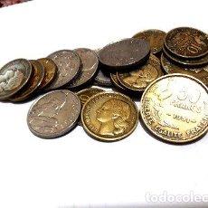 Medallas temáticas: 22 MONEDAS ANTIGUAS FRANCOS FRACESES LIQUIDO. Lote 244394315