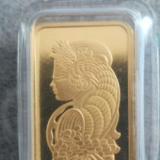 Medallas temáticas: LINGOTE DE ORO 999 FORTUNA P. A. M. P. SWISS DIOSA FORTUNA, 10 GR. Lote 245181060