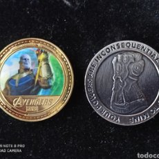 """Medallas temáticas: LOTE DE LA FAMOSA SERIE,AVENGERS """"LOS VENGADORES"""".1 CHAPADA EN ORO DE 24K Y OTRA DE ALEACIÓN, PRECIO. Lote 245570930"""