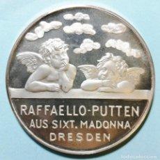 Medallas temáticas: MEDALLA DE PLATA 1000. RAFFAELLO-PUTTEN AUS SIXT. MADONNA DRESDEN.. Lote 245779455