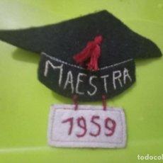 Medallas temáticas: 1959 CVRIOSO PARCHE HECHO EN FELPA ANTIGVO 8,5 CMS ALTO ARTESANO. Lote 245945575
