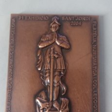 Medalhas temáticas: MEDALLA 31 EXHIBICIO FILATELICA I NUMISMATICA GENERALITAT DE CATALUNYA BARCELONA SANT JORDI 2004. Lote 245987285