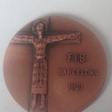 Medallas temáticas: MEDALLA XXXV EXPOSICIO DEL CERLE FILATELIC I NUMISMATIC F.I.B. BARCELONA 1981. Lote 246127365