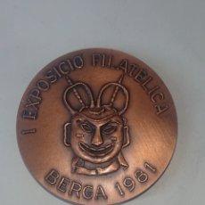 Medalhas temáticas: MEDALLA I EXPOSICIO FILATELICA BERGA 1981 ORGANITZA CERCLE FILATELIC I NUMISMATIC DE RIPOLL. Lote 246137265