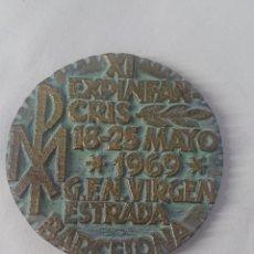Medallas temáticas: MEDALLA XI EXPINFAN-CRIS 18-25 MAYO 1969 G.F.N.VIRGEN ESTRADA BARCELONA. Lote 246138165