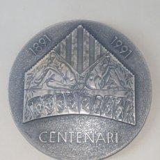 Medalhas temáticas: MEDALLA CENTENARI ORFEO CATALA EXHIBICIO FILATELICA I NUMISMATICA TEMA MUSICAL BARCELONA 1991. Lote 246140550
