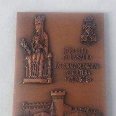 Medallas temáticas: MEDALLA PATRONATO MUNICIPAL DE CULTURA Y DEPORTE CASTELLDEFELS NTRA SRA DE LA SALUD IV EXP FIL 1974. Lote 246158785