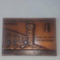 Medallas temáticas: MEDALLA PATRONATO MUNICIPAL DE CULTURA Y DEPORTE CASTELLDEFELS INAGURACIO CASA LA CULTURA V EX 1975. Lote 246159335