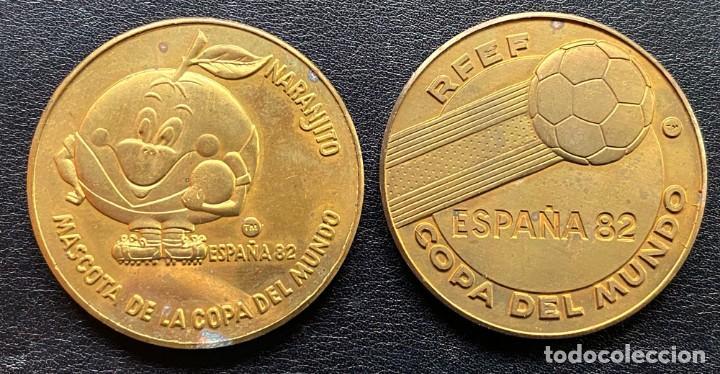 2 MEDALLAS COBRE ESPAÑA'82 COPA DEL MUNDO DE FUTBOL (Numismática - Medallería - Temática)