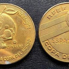 Medallas temáticas: 2 MEDALLAS COBRE ESPAÑA'82 COPA DEL MUNDO DE FUTBOL. Lote 247123515