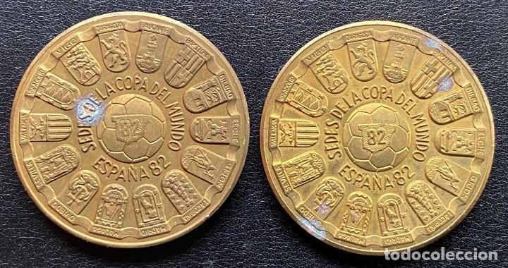 Medallas temáticas: 2 MEDALLAS COBRE españa82 COPA DEL MUNDO DE FUTBOL - Foto 2 - 247123515