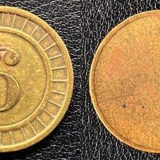 Medallas temáticas: FICHA CON EL NÚMERO 6. Lote 247124510