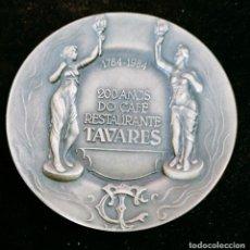 Medallas temáticas: MEDALLA 200 AÑOS DO CAFE RESTAURANTE TAVARES PORTUGAL BELLISIMO TRABAJO ESCULTORICO PORTUGAL. Lote 248001915