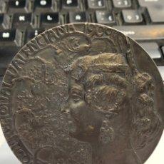 Medallas temáticas: MEDALLA DE MESA EXPOSICION REGIONAL VALENCIANA -1909 - GRABADOR MARIANO BENLLIURE. Lote 248280635