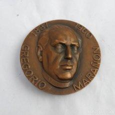 Medallas temáticas: MEDALLA DE GREGORIO MARAÑON 1887 - 1960 / INTELLIGE CLAMOREM MEUN, MIDE 8 CMS DE DIAMETRO, GRABADOR:. Lote 251800760