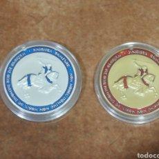 Medallas temáticas: LOTE DE 2 MONEDAS CONMEMORATIVA CABALLEROS TEMPLARIOS DORADA Y PLATEADA. Lote 254112035
