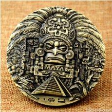 Medallas temáticas: ESPECTACULAR MONEDA MAYA DE GRAN TAMAÑO 8 CMS DE DIÁMETRO. Lote 293280773