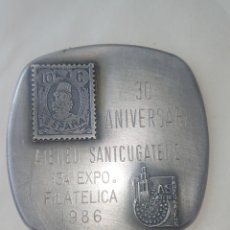 Medallas temáticas: MEDALLA 30 ANIVERSARI ATENEU SANTCUGATENC 13 EXPOSICIO FILATELICA 1986. Lote 254423585