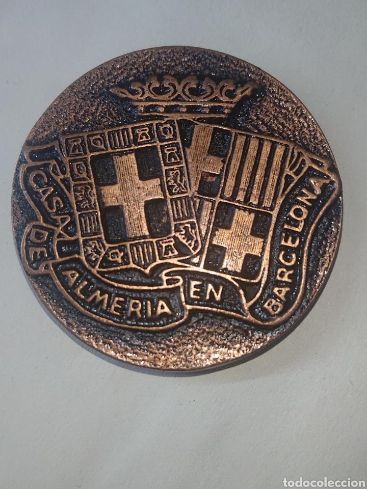 MEDALLA CASA DE ALMERIA EN BARCELONA 40 ANIVERSARIO 1950-1990 (Numismática - Medallería - Temática)