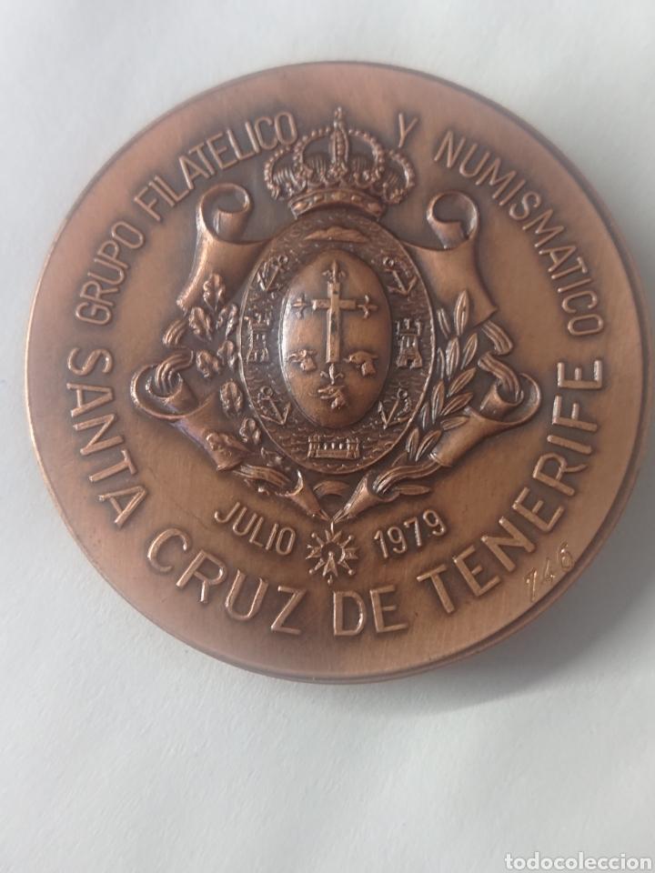 Medallas temáticas: MEDALLA GRUPO FILATELICO Y NUMISMATICO SANTA CRUZ DE TENERIFE EXPOSICION AMISTAD HISPANO BRITANICA - Foto 2 - 254425590