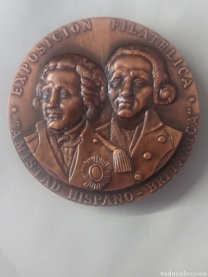 MEDALLA GRUPO FILATELICO Y NUMISMATICO SANTA CRUZ DE TENERIFE EXPOSICION AMISTAD HISPANO BRITANICA (Numismática - Medallería - Temática)