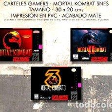 Medallas temáticas: POSTERS MORTAL KOMBAT COMBO GAMER 3X JUEGOS SNES 30X20 CM. Lote 255058865