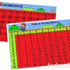 Medallas temáticas: TABLA PITAGORICA NUMEROS DEL 0 AL 100 SUPER MARIO BROS. Lote 255061660