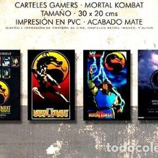 Medallas temáticas: POSTERS MORTAL KOMBAT COMBO GAMER 4X JUEGOS PVC 30X20 CM. Lote 255144990