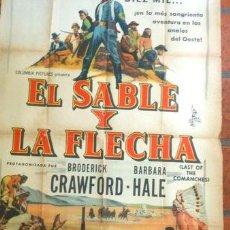 Medallas temáticas: AFICHE DE PELICULA EL SABLE Y LA FLECHA. Lote 255264115