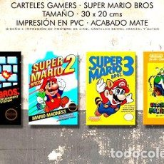 Medallas temáticas: POSTERS SUPER MARIO BROS COMBO GAMER 4X NINTENDO PVC 30X20. Lote 255267785