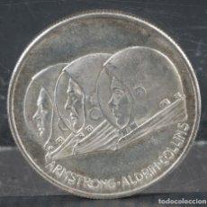 Medallas temáticas: MEDALLA APOLO 11-LUGIO 1969 ARMSTRONG ALFRIN COLLINS-34 MM. Lote 257321325