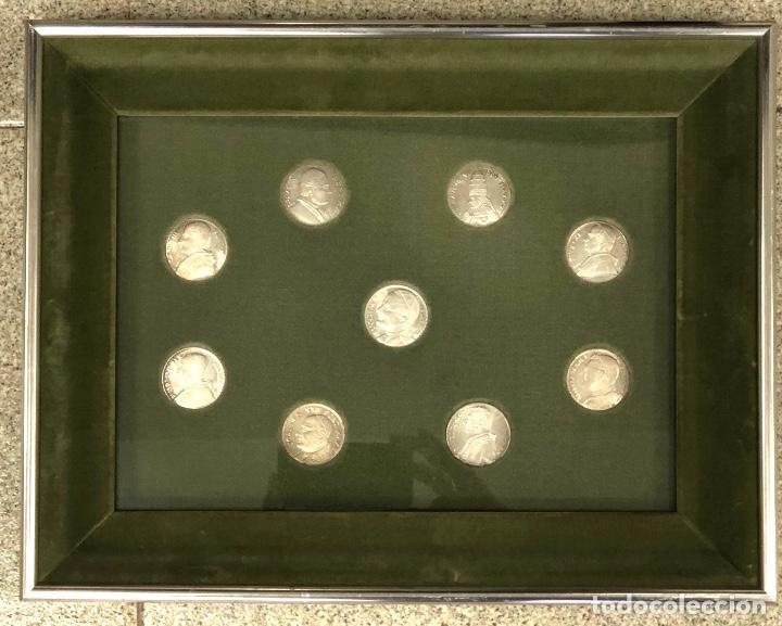 LOTE DE 9 MONEDAS VATICANO. SE PRESENTAN ENMARCADAS (Numismática - Medallería - Temática)