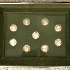 Medallas temáticas: LOTE DE 9 MONEDAS VATICANO. SE PRESENTAN ENMARCADAS. Lote 257454080